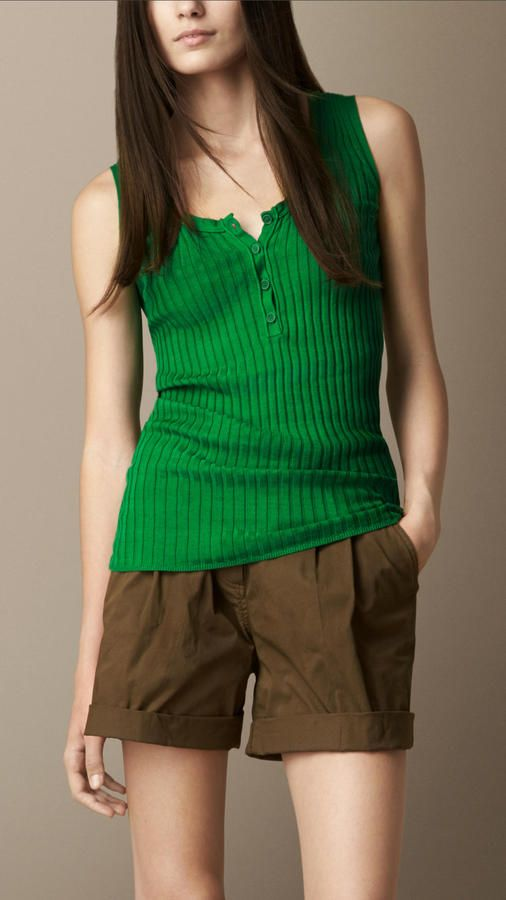Burberry Ribbed Cotton Knitted Vest on shopstyle.com