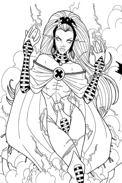 xman storm girl coloring pages art pinterest
