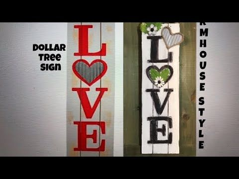 Dollar Tree Diy Farmhouse Style Valentine Love Sign Diy Galvanized Heart Youtube Diy Valentines Crafts Dollar Tree Diy Dollar Tree Crafts