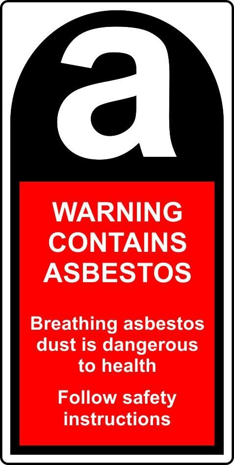 Roll Of 250 Warning Contains Asbestos Labels 50mmx100mm Safety