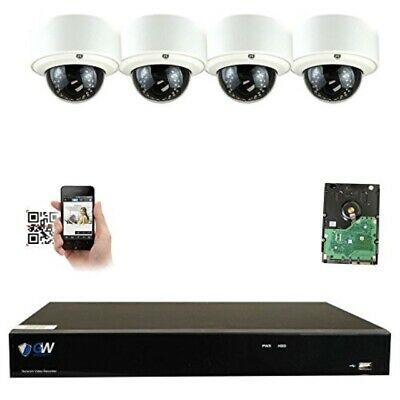 Details About Gw Security 8ch 4k Nvr Ip Security Camera System 4 X Hd 5 0 Megapixel 1920p Ip Security Camera Security Camera System Dome Camera