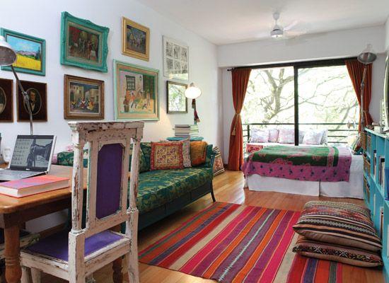 Un monoambiente bien aprovechado   Santiago  Revistas y Mono. Revista Living Decoracion Monoambientes. Home Design Ideas