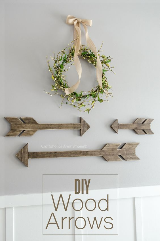 I love arrows! Learn how to make your own DIY Wood arrows with this easy tutorial!: