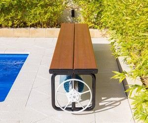 Daisy Ubr Under Bench Roller Pool Cover Storage A Swimming Pool