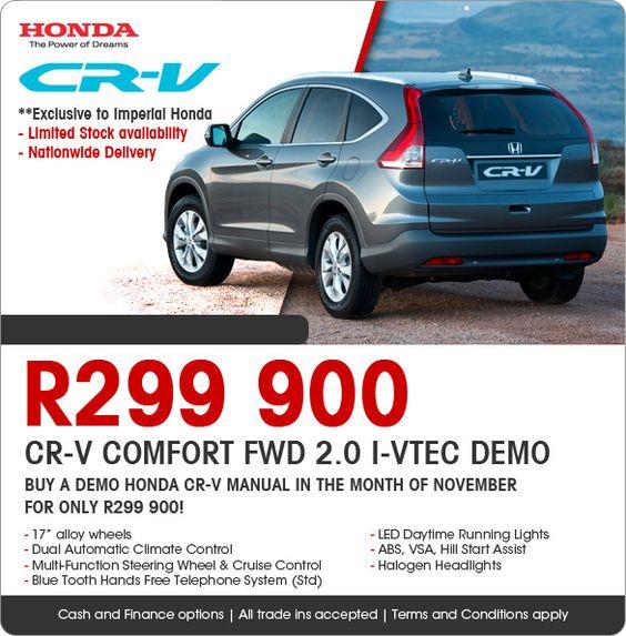honda cr-v 2 0i comfort special edition suv
