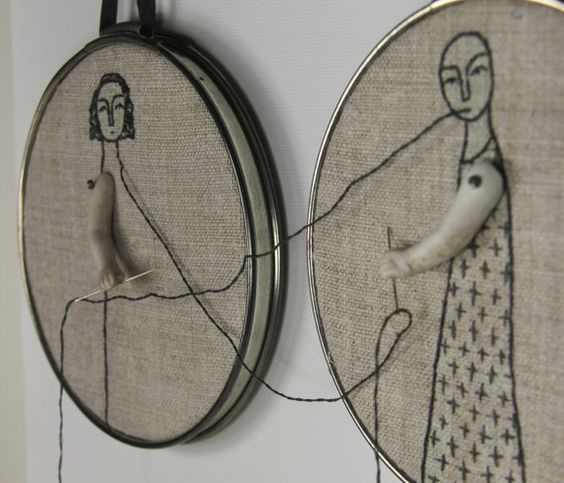 hand embroidery hoop art we complete by MarysGranddaughter on Etsy
