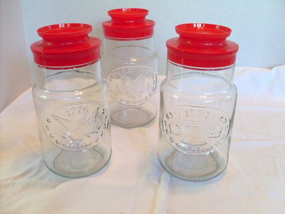 Bicentennial Glass Jars 1976 Anchor Hocking set by AngelasArtistic, $16.00