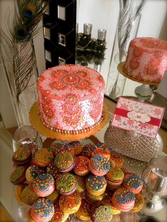 Mehndi Cake Table : Henna designs beautiful and dessert tables on pinterest