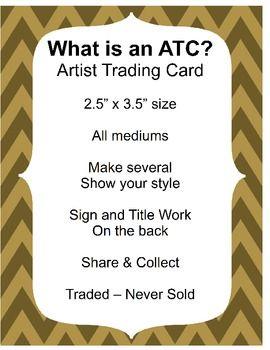 ARTIST TRADING CARDS - TeachersPayTeachers.com: