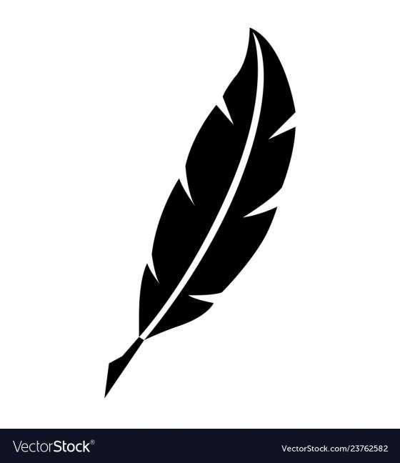 17 Feather Pen Vector Feather Pen Pen Icon White Feather Pen