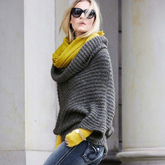 Herbstmode: Gemütlicher Strickpullover. #fashion #impressionen