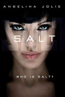 Salt starring Angelina Jolie! I was so surprised by this movie, it was REALLY great! Action-packed with a bit of heartbreaking romance!