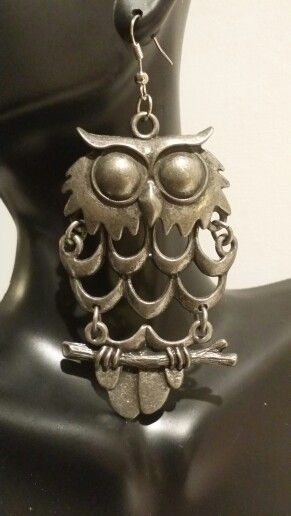 Rustic Silver Owl Earrings https://www.etsy.com/shop/NYCAccessoriesByTD