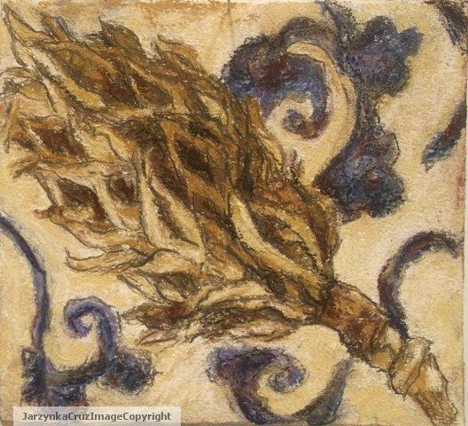 Original Art Drawing Pastel Magnolia Seed by PrussianBlueStudio, $45.00