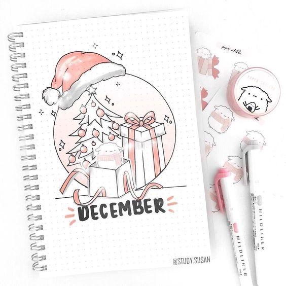 30 idées pour votre monthly cover de décembre - @study.susan on instagram