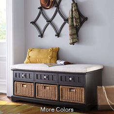 Chelsea Storage Bench. Perfect for a small mudroom entry way