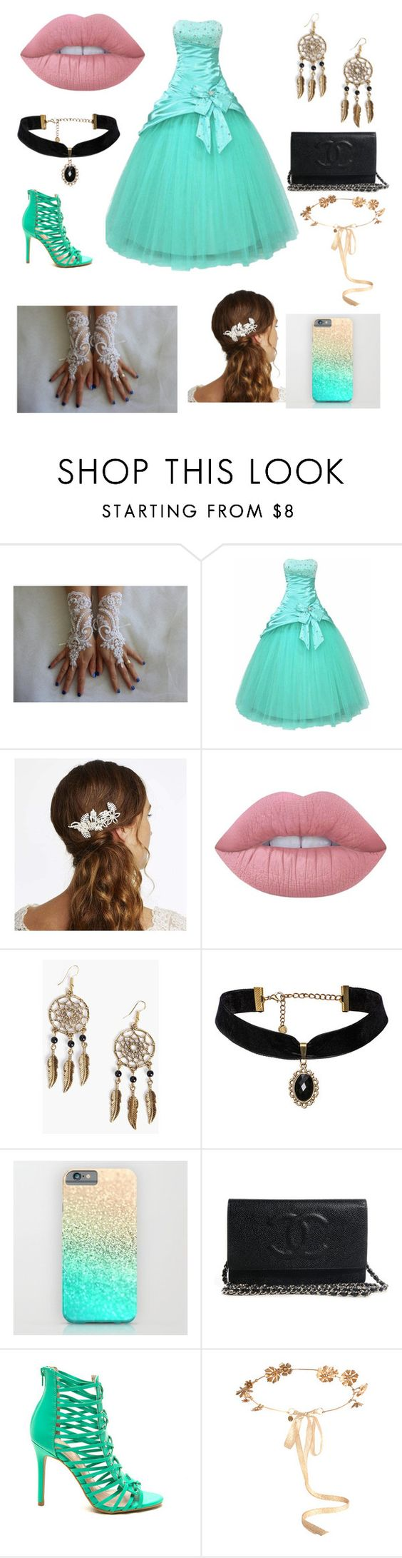 """""""Party Time #2"""" by jessiesme ❤ liked on Polyvore featuring Alan Hannah, Lime Crime, Boohoo and Eugenia Kim"""