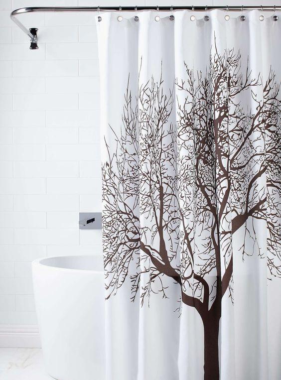 Le rideau de douche arbre pur rideaux de douche - Rideaux de douche design ...