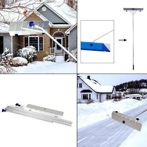 Snow Cleaner Shovel Roof Rake Long Extendable Handle Ice Scraper Lightweight New Kinbor Snow Cleaning Ice Scraper Shovel