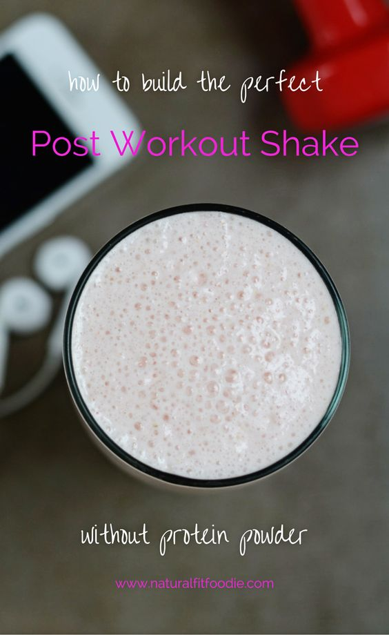 Is it possible to make a Post Workout Shake without protein powder? Absolutely!