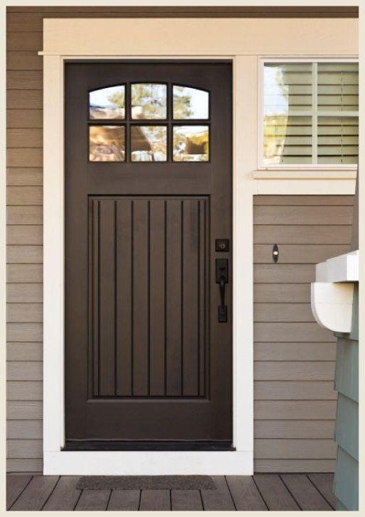 Chocolate Brown Front Door - Door Ideas ... | Brown front doors, Front door paint colors, Iron doors