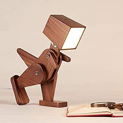Hroome Wood Dinosaur Table Lamp Dimmable Kids Desk Lamp With Adjustable Body Fun Animal Reading Lamp For Livi Wood Lamp Design Table Lamp Wood Diy Floor Lamp