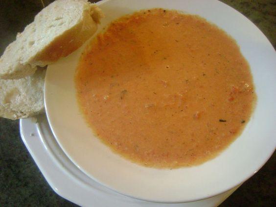 smoked gouda/tomato soup