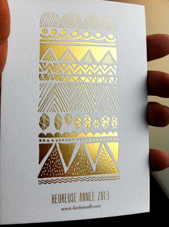 Marquage à chaud or - Carte de voeux #Dorure