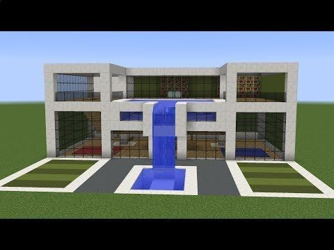 Minecraft - How to build a modern house 11 A new tutorial on how to ...