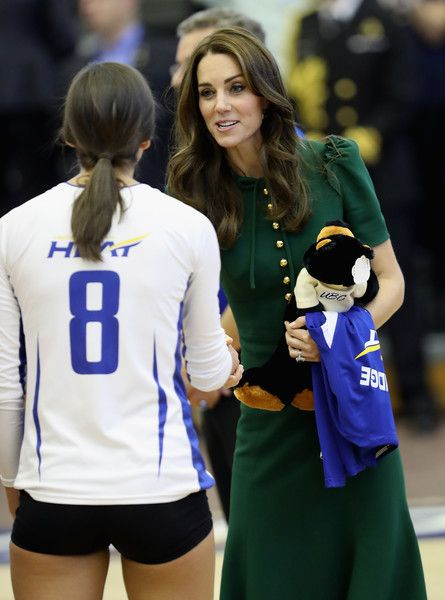 Kate Middleton Photos Photos - Catherine, Duchess of Cambridge watches a game of volleyball as she visits Kelowna University during the Royal Tour of Canada on September 27, 2016 in Kelowna, Canada.