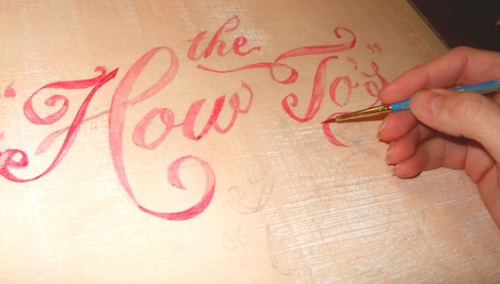 process of hand lettering