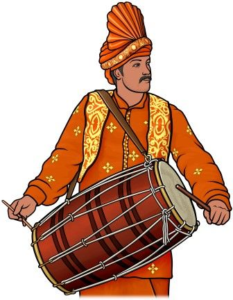[ dhol ]   Indian drum.