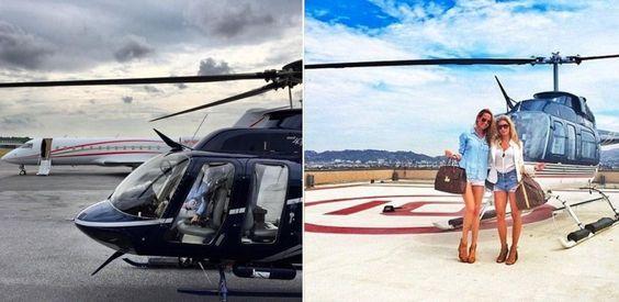 Ngoài sở hữu những chiếc máy bay riêng thì những cậu ấm, cô chiêu còn có cả trực thăng để phục vụ cho những cuộc du ngoạn gần nơi mình ở.