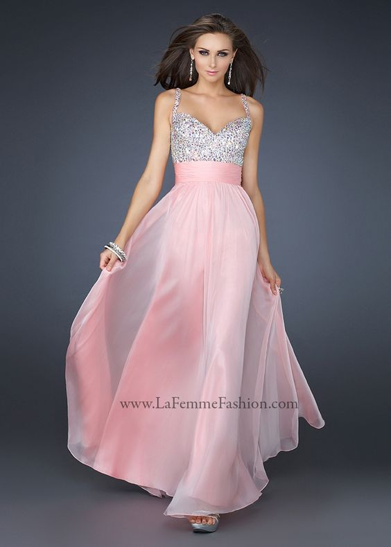 La Femme 16802 Cotton Candy Pink Evening Gown - Shops- Prom ...