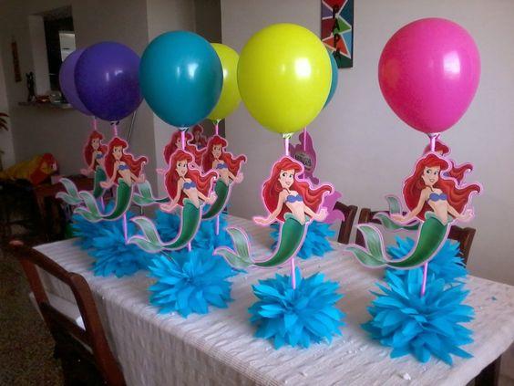 La sirenita decoracion para cumplea os buscar con google for Decoracion de cumpleanos