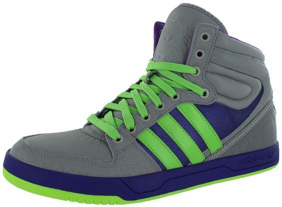 NEW ADIDAS COURT ATTITUDE Originals MENS 13 Gray Purple Ray Green NWT #adidas #Athletic
