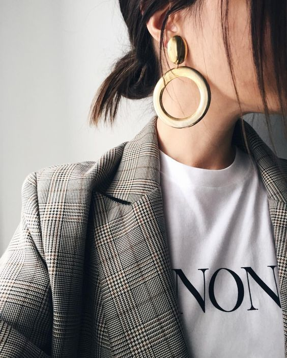 "When you wear your winona t-shirt with a blazer it becomes a ""non"" shirt and I'm loving it @thefashionmedley"
