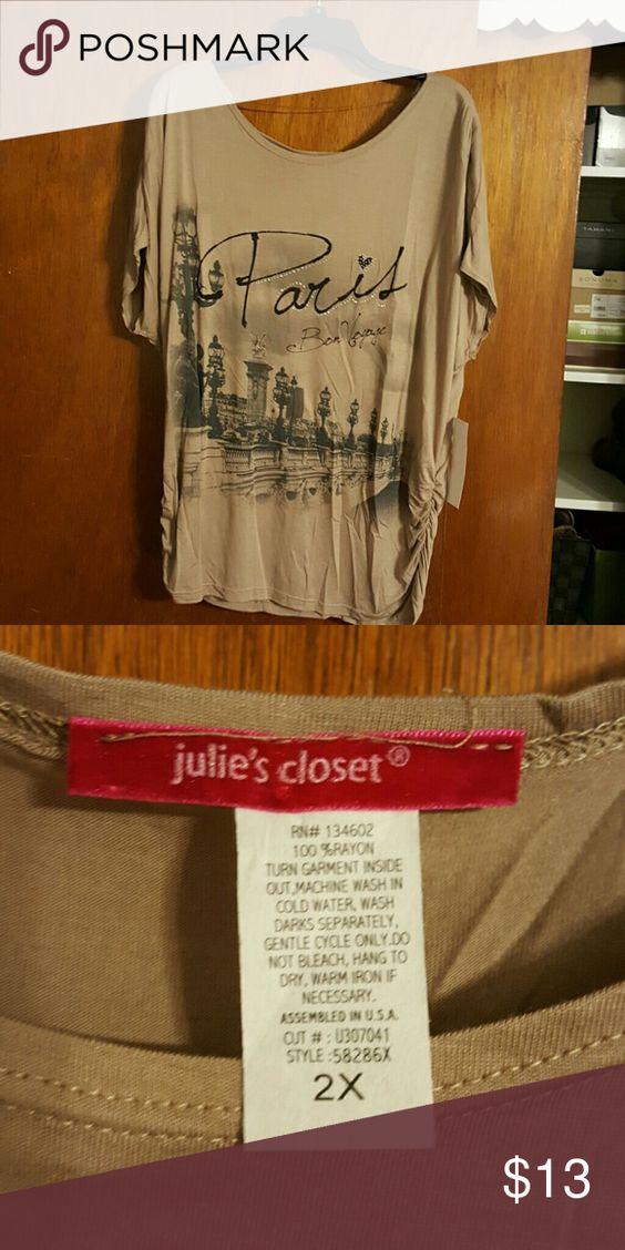 Lightweight Top Thin and lightweight material. Julies Closet Tops Tees - Long Sleeve
