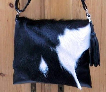 CowHair Bag#Tote#Purse#Felltasche#Kuhfelltasche#Tassel# KUHIE, Kuhfelltasche aus Leder und Kuhfell in w von Gmischtesach:  Die Tasche mit der Kuh !! auf DaWanda.com