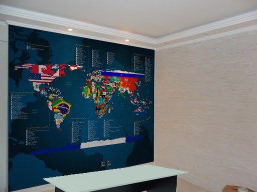Worksheet. adesivo mapa mundi com as bandeiras dos pases  Modelos de Mapas