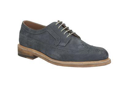 Clarks Edward Style, Navy Nubuck, Mens Formal Shoes