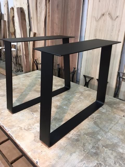 28 Inch Tall Steel Trapezoid Dining Table Base Set Part X 187 V