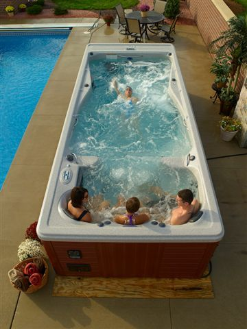 Michaelphelps swim spas are easy to maintain unlike above ground swimming pools and hot tubs for How to maintain an above ground swimming pool