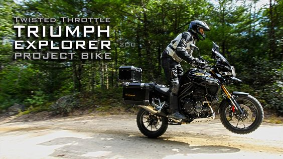 Triumph Explorer 1200 outfitted to the extreme by Twisted Throttle (+pla...