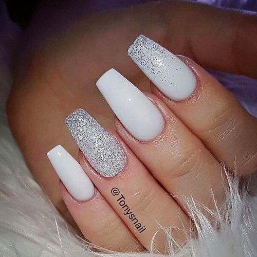 12 Trending Nails For The Confident Female Hashtagnailart Com Trendy Nails White Coffin Nails Coffin Nails Designs