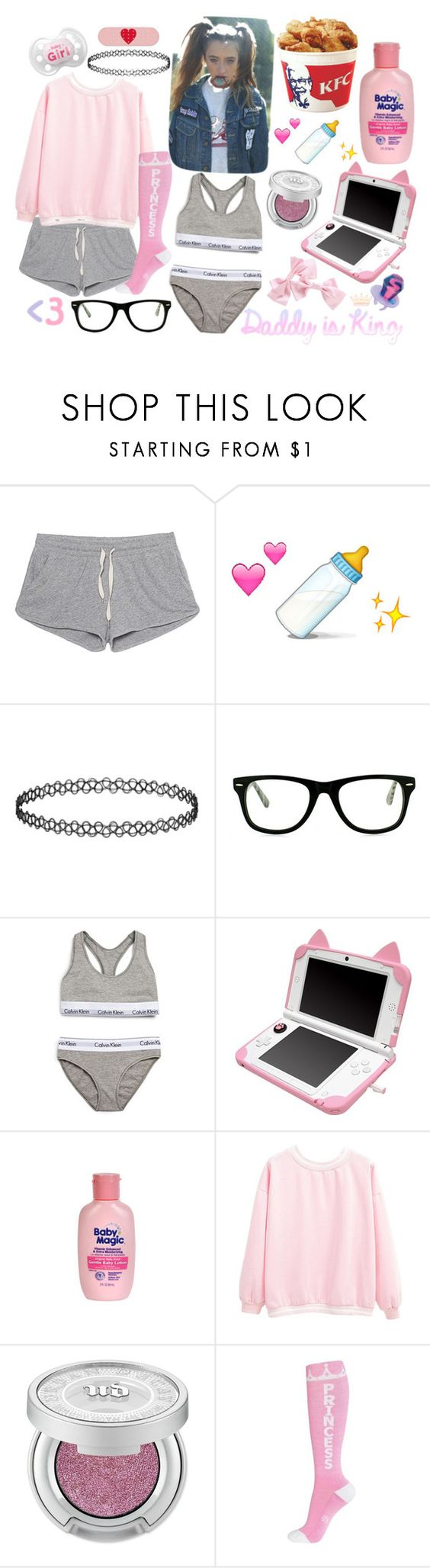 """""""Ddlg"""" by princess-llyssa ❤ liked on Polyvore featuring American Vintage, Topshop, Muse, Calvin Klein Underwear and Urban Decay"""
