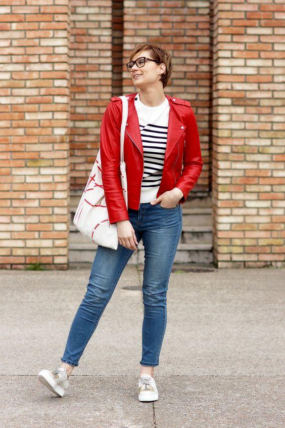 1.2.3 Paris - Coralie du blog @leblogdartlex porte notre cuir Vela, pull Matelot et pantalon Freddy printemps-été 2016 #123paris #streetstyle #ootd #mode #fashion #shopping #blogueuse #blogger #blogueusemode #fashionblogger #printemps #spring #été #summer #123parisArmorLux #armorlux @armorlux