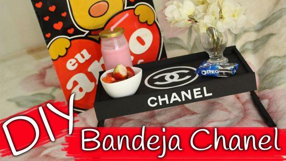 DIY - Bandeja Chanel - Dia dos namorados / Chanel Tray - Valentine Day
