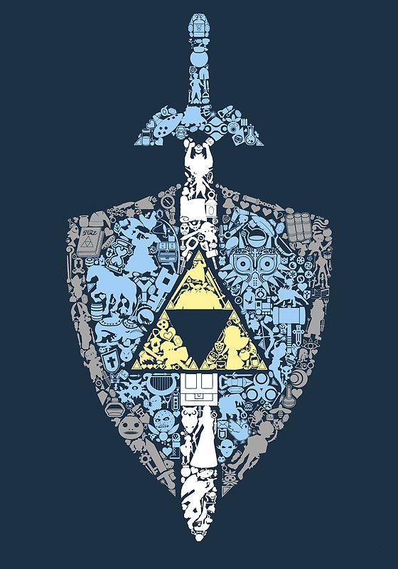 The Legend of Zelda artwork by The Hookshot. #videogames #gaming