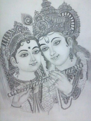 Radha Krishna In 2020 Krishna Drawing Radha Krishna Sketch Art Drawings Sketches Creative